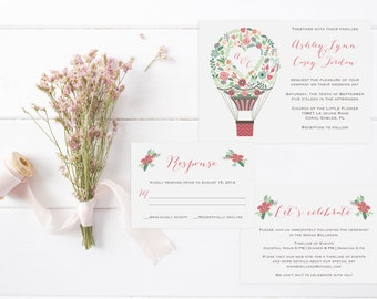 Fly Away With Me Invitation Suite-DIGITAL/PRINTABLE