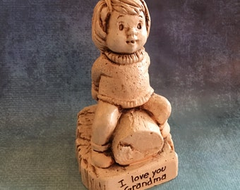 "Vintage ""I love you Grandma"" figurine by Paula from 1981"
