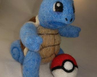 OOAK Pokemon Squirtle needle felt sculpture
