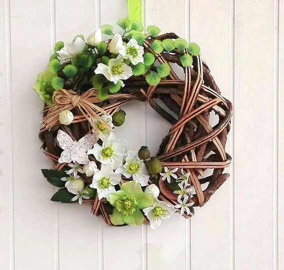 Elegant unique fireplace wreath, made in Italy gorgeous wall decor, unique Italian welcome sign, Italian rustic elegant flower home accent