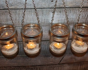 4 DIY Mason Jar Luminary Lantern Lids Garden Lighting Outdoor Indoor Decor- Wide Mouth Silver