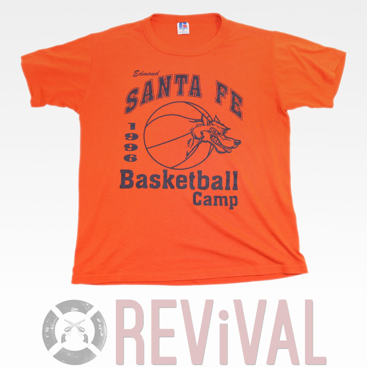 Vintage basketball camp t shirt size m for Retro basketball t shirts