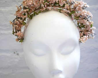 Pink Velvet Flower Crown Headband