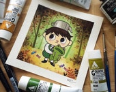 Over the Garden Wall Watercolor PRINT by Michelle Coffee