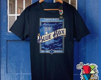 Blue Box | Doctor Who Shirt | Police Box | British TV Show | England Shirt | British Shirt | Cyber | Angels | Mens Womens Unisex T Shirt