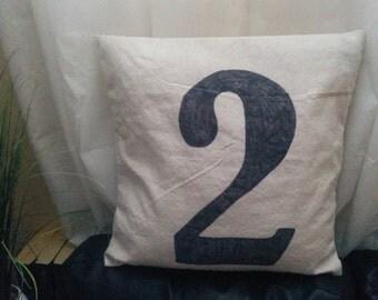 "Handmade Pillow Cover 18"" x 18"" (45.7cm x 45.7cm) - Canvas no. 2 - home decor, throw pillows, gift, decorating, rustic"