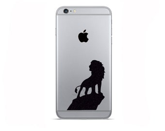 The Lion King 2 Fabric iPhone 6 Stickers - Simba Galaxy s6 Decals - iPhone 5 Stickers - Samsung Galaxy s5 Sticker - iPhone 6 Plus Decals