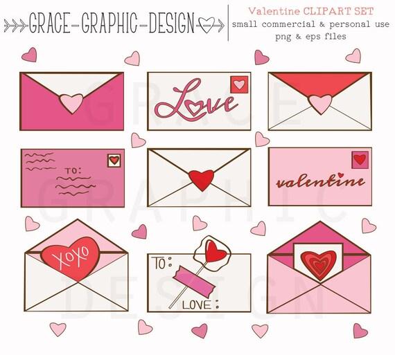 Cute Valentines Day Clipart Valentine Letter Clipart Valentine