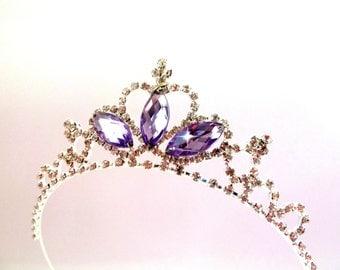 Purple Tiara PRINCESS SOFIA The First Headband ,Princess Sofia Rhinestone Crown Tiara ,Princess Sofia Tiara,Princess Sofia halloween Costume