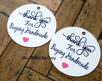 Thank You for Buying Handmade Tags, Handmade Tags, Thank you tags,Gift Tags TG-002