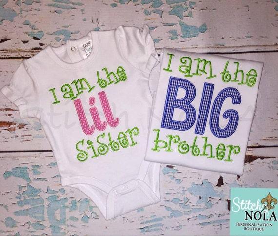 I am the Big Brother, I am the Big Sister, I am the lil Brother, I am the Lil Sister, Sibling Set