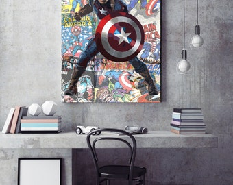 Marvel Avengers  Captain America Canvas Print