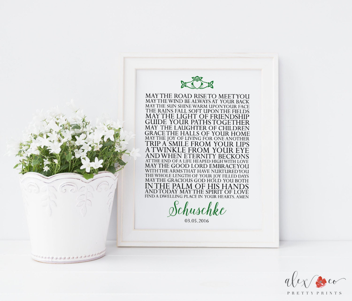 Unique Wedding Gifts Ireland : Personalized Wedding Gift. Irish Blessing. Irish Wedding Gift.
