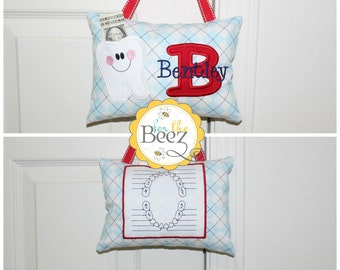 Boys Tooth Fairy Pillow - Personalized Tooth Fairy Pillow - Tooth Fairy Pillow - Tooth Fairy Pillow for Door