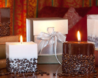 Coffee Candles - Decorative Candles - Scented Candles - Gift for him - Gift for her