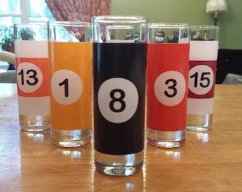 Luminarc Pool Ball Shot Glasses Set of 6