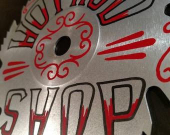 Hot Rod Shop Rockabilly Pinstripe Art Painted Saws Kustom Kulture