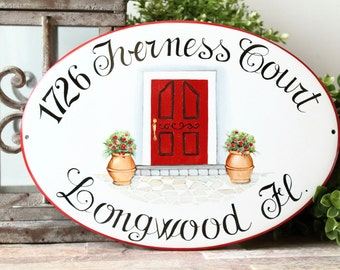 Housewarming gift personalized house sign, House Gift sign, Custom House sign, House address sign, Personalized house numbers