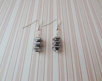 Silver Hemitite Earrings - Ready to Ship