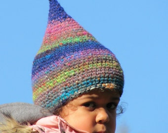 Pixie toddler hat, Pixie girls hat, fantasy hat, Adult size (or child/teen) crochet Pixie hat