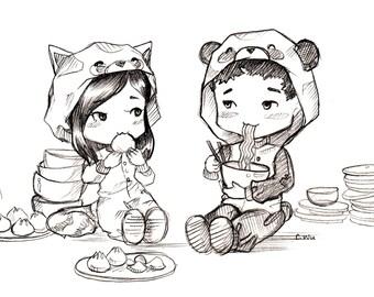 Custom Chibi Sketches/Couple Sketches