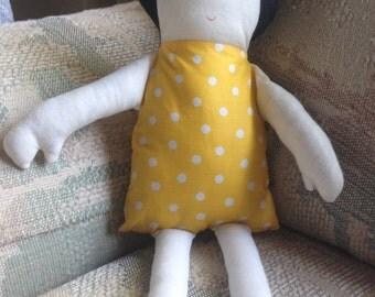 Rag Doll, Fabric Doll, Girl Doll, Cloth Doll, Toy