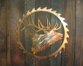 Custom Elk Head Sawblade Metal art, Fathers day gift, gift for men, elk theme, hunting, mothers day gift