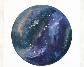 Galaxy print, Galaxy Art, Galaxy Painting, Space Art, Celestial Art, Planet Art, Galaxy Decor, Constellation Art, Constellation Painting