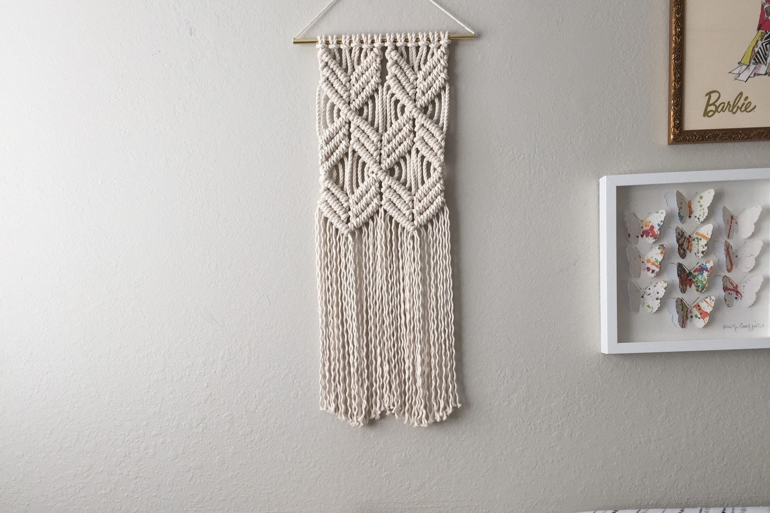 Macrame patterns macrame pattern macrame wall hanging for Wall hanging craft from waste