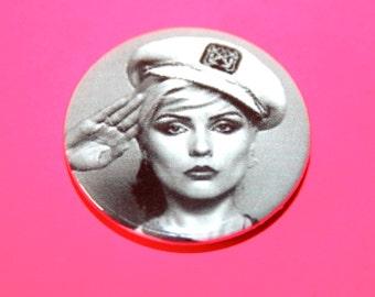 Vintage Style Blondie Debbie Harry Button Pin Badge