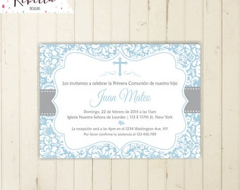 invitaciones de primera comunion formales