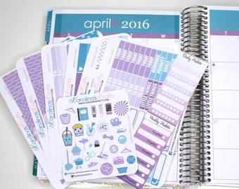 April Color Matched Weekly Sticker Set - ECLP / Erin Condren Stickers / Life Planner Sticker /April Planner Stickers #SQ00886