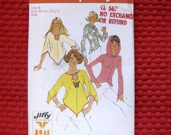 Vintage Simplicity 6656 Hankerchief Style Blouse with Hood & Pointed Sleeves