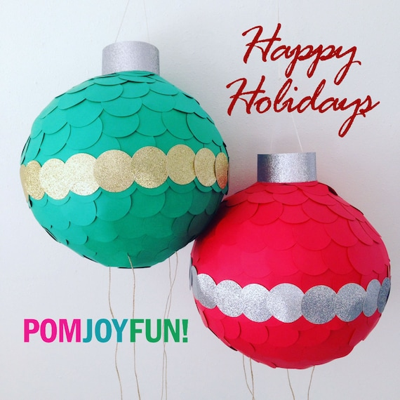 Christmas Piñata, Traditional Piñata, Ornament Piñata