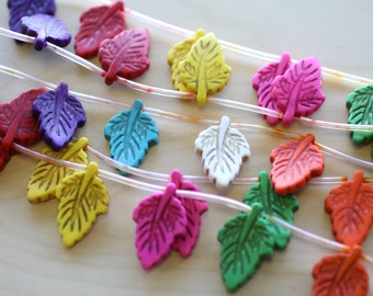 Small Leaf Beads.