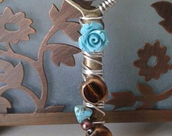 Turquoise Rose Key
