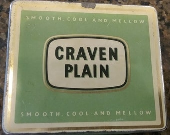Craven Plain Cigarette Tin, Vintage Cigarette Tin, Craven Cigarettes, Vintage Tins, Vintage Cigarettes, Cigarette Containers, Carreras Ltd