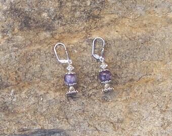 Fairy Potion Bottle Earrings - Magical Amethyst Inspired Fairy Jewelry - Elven Viking Jewelry