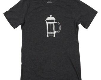 French Press Coffee Tee - Men's Tshirt SALE