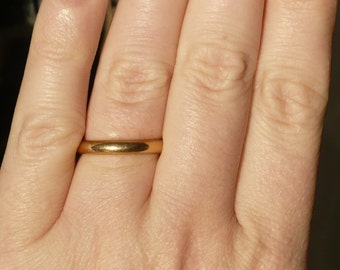 YELLOW GOLD WEDDING Band - 14k - Wedding Ring - Band
