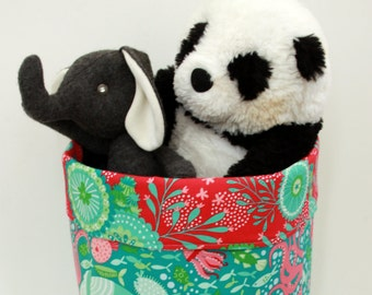 10x10x13 Large fabric basket or fabric bin for storing a variety of items - toys, clothes, craft supplies etc.