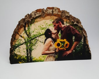 Custom Wood Photo Gift, 5th Anniversary, Rustic Home Decor, Wedding Gift, Engagement Gift, Wood Picture Frame, Personalized Picture on Wood