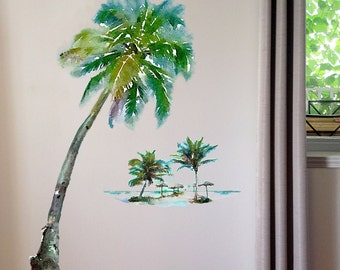 Palm Tree Wall Decal, Tropical Decor,