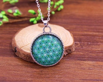 flower of life pendant | sacred geometry necklace | love knot | religious jewelry | silver spiritual art pendent | FOL | model 5