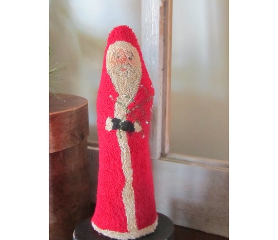 Santa with Tree Punch Needle Pattern