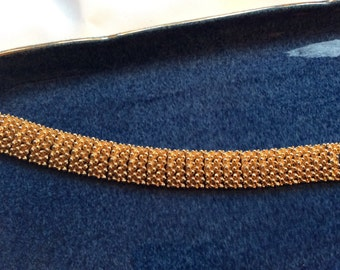 Sarah Coventry Bracelet gold tone flexible vintage, Golden Sunset