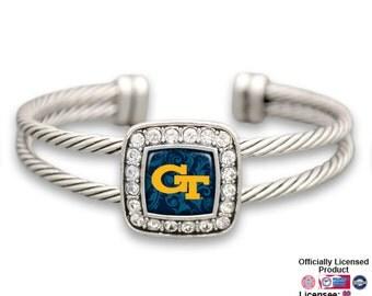 Georgia Tech Yellow Jackets Square Cuff Bracelet - GT472733