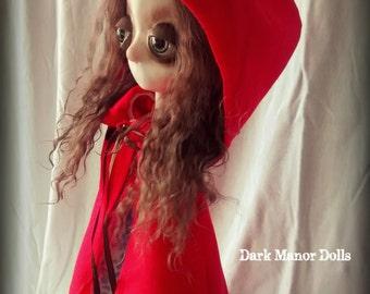 Gothic Art Doll, OOAK Handmade Dark Manor Doll: Little Red Riding Hood
