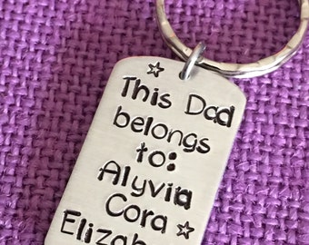 Fathers Day Gift Personalized  - Dad Gift - Dad Keychain - Gift for Dad - Father's Day gift - This dad belongs to... Best dad - Dad gift