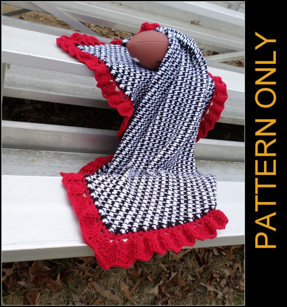Alabama Throw CROCHET PATTERN Throw or by JennaWingateDesigns